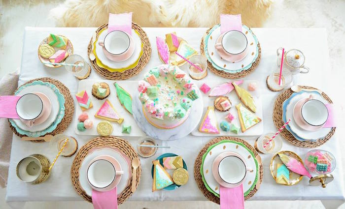Boho Watercolor Tabletop from a Boho Chic Watercolor Birthday Party on Kara's Party Ideas | KarasPartyIdeas.com (19)