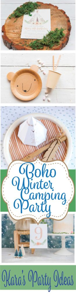 Boho Winter Camping Party via Kara's Party Ideas