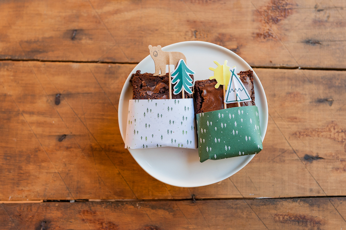 Camper brownies from a Boho Winter Camping Sleepover Birthday Party on Kara's Party Ideas | KarasPartyIdeas.com (23)