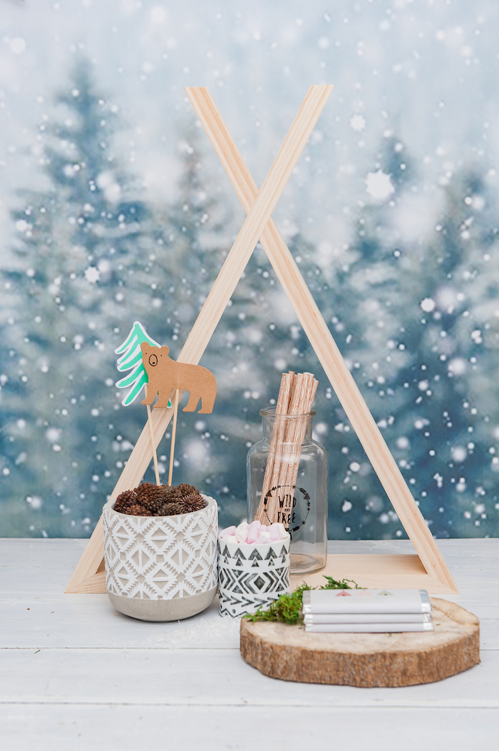 Boho detailing from a Boho Winter Camping Sleepover Birthday Party on Kara's Party Ideas | KarasPartyIdeas.com (14)