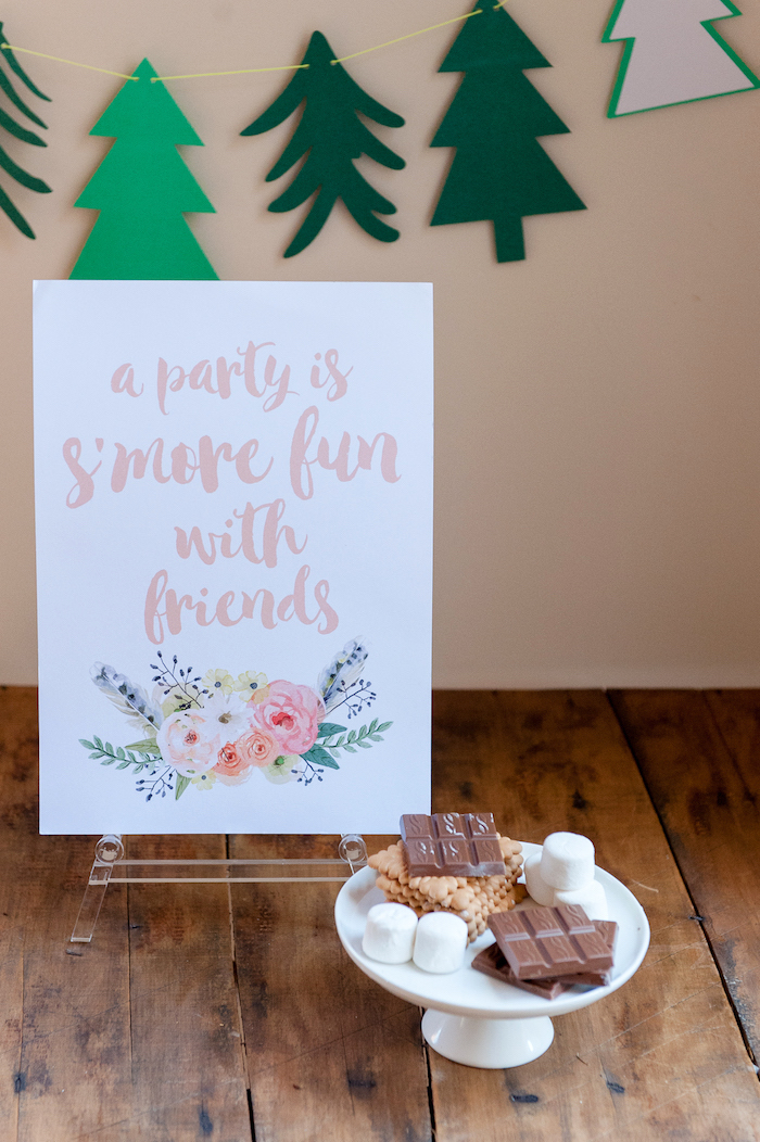 S'mores from a Boho Winter Camping Sleepover Birthday Party on Kara's Party Ideas | KarasPartyIdeas.com (10)