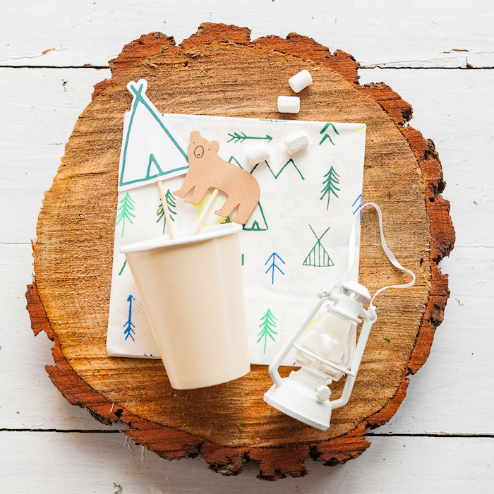Partyware from a Boho Winter Camping Sleepover Birthday Party on Kara's Party Ideas | KarasPartyIdeas.com (35)