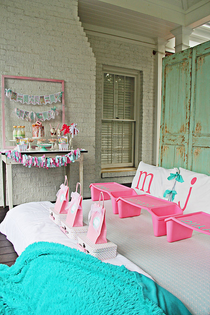 Breakfast in Bed Party Spread on Kara's Party Ideas | KarasPartyIdeas.com