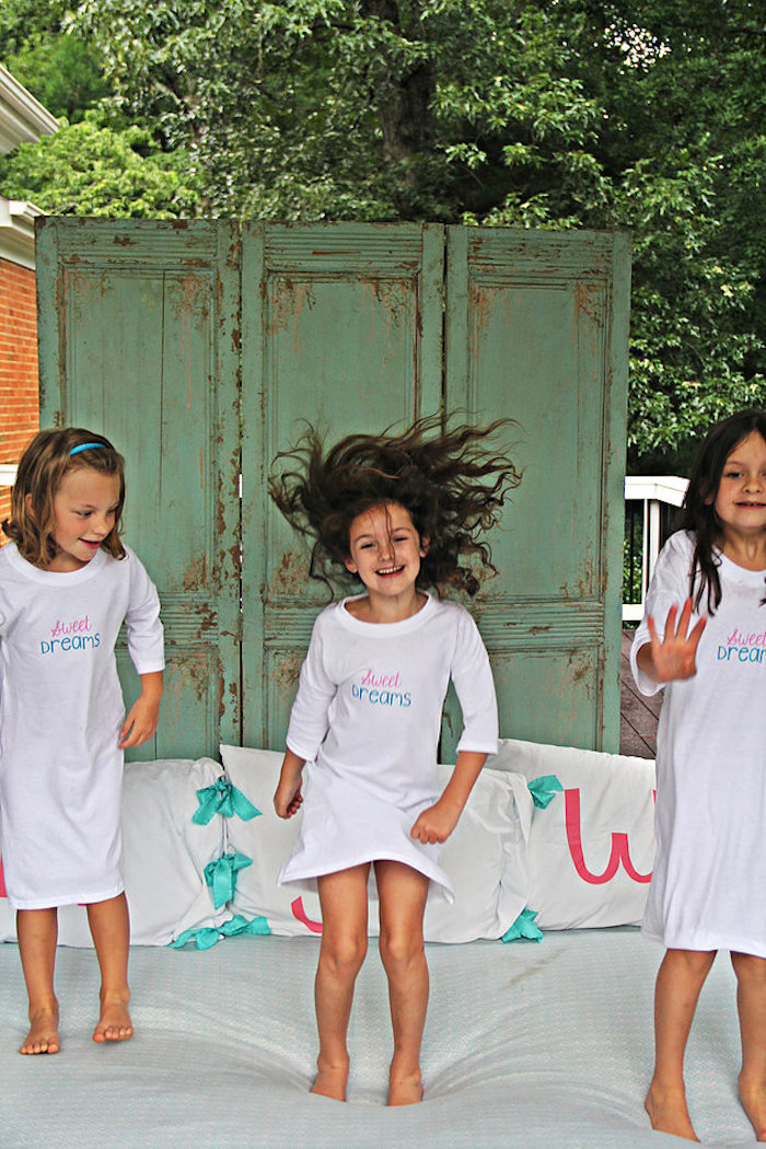 Little girls from a Breakfast in Bed Sleepover Party on Kara's Party Ideas | KarasPartyIdeas.com (22)