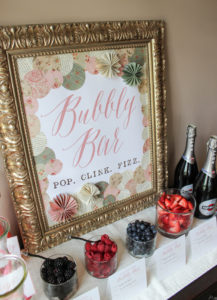 BubblyBar from a Librarian Book Themed Retirement Party via Kara's Party Ideas | KarasPartyIdeas.com