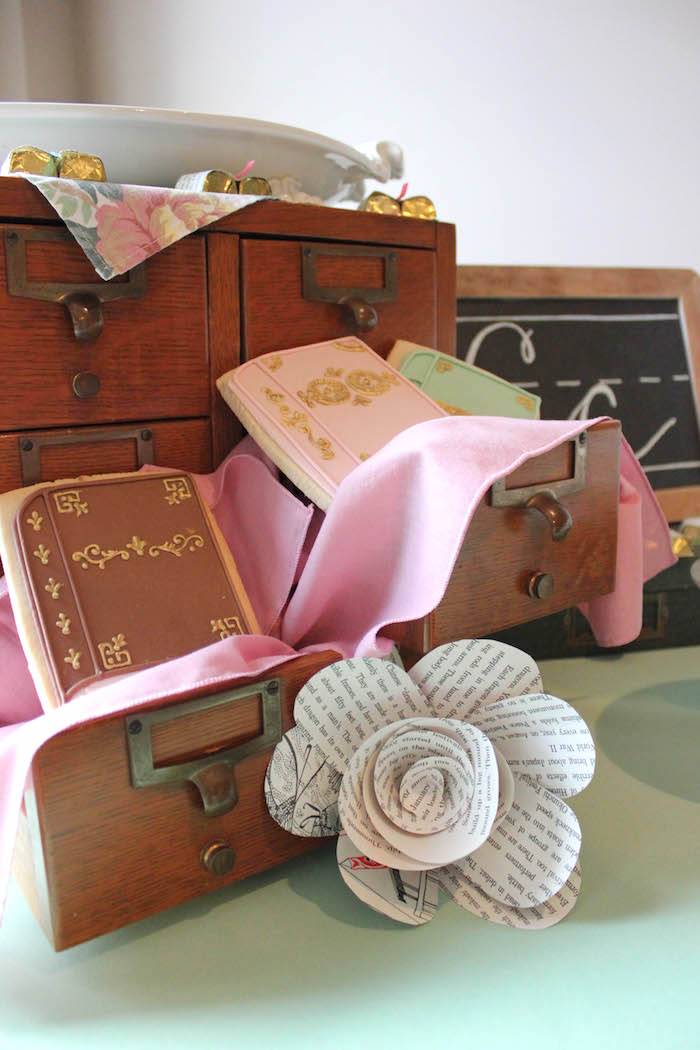 Card Catalogue from a Librarian Book Themed Retirement Party on Kara's Party Ideas | KarasPartyIdeas.com