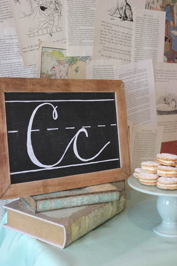 Chalkboard from a Librarian Book Themed Retirement Party on Kara's Party Ideas | KarasPartyIdeas.com