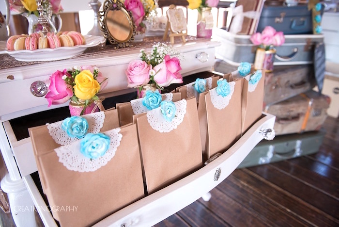 Gift bags from a Chic Beauty and the Beast Birthday Party on Kara's Party Ideas | KarasPartyIdeas.com (16)