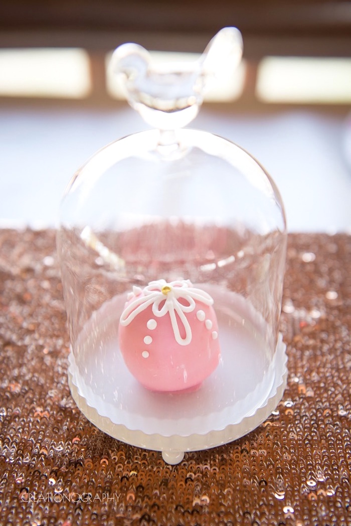 Cake ball from a Chic Beauty and the Beast Birthday Party on Kara's Party Ideas   KarasPartyIdeas.com (14)