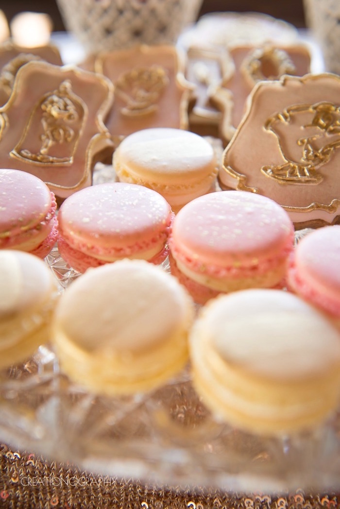 Macarons from a Chic Beauty and the Beast Birthday Party on Kara's Party Ideas | KarasPartyIdeas.com (12)