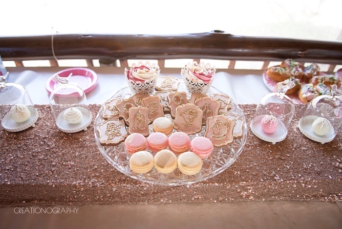 Sweets + sweet table from a Chic Beauty and the Beast Birthday Party on Kara's Party Ideas | KarasPartyIdeas.com (11)