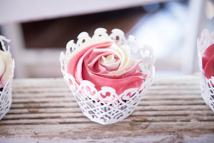 Swirl cupcake from a Chic Beauty and the Beast Birthday Party on Kara's Party Ideas | KarasPartyIdeas.com (6)