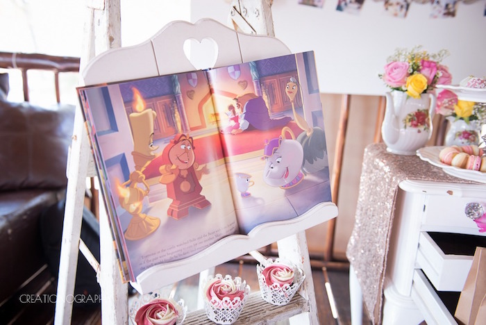 Beauty and the Beast Storybook from a Chic Beauty and the Beast Birthday Party on Kara's Party Ideas | KarasPartyIdeas.com (5)