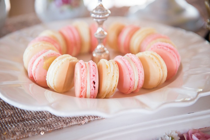 Macarons from a Chic Beauty and the Beast Birthday Party on Kara's Party Ideas | KarasPartyIdeas.com (24)