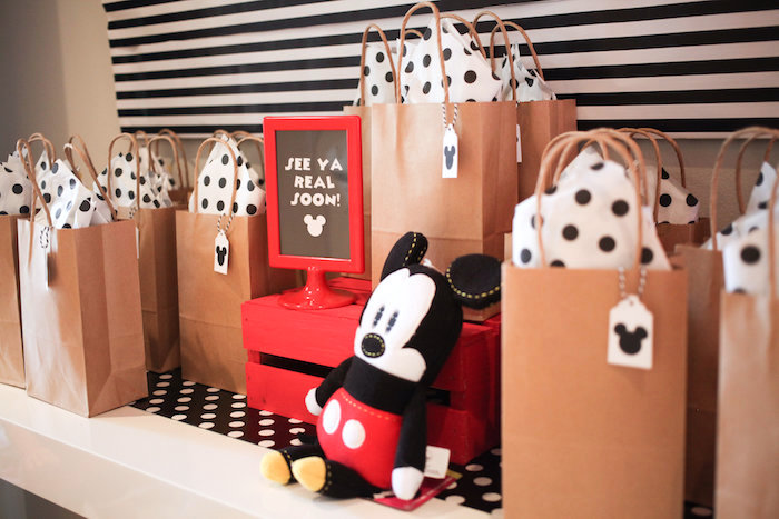 Mickey Mouse favor bags from a Classic Mickey Mouse Birthday Party on Kara's Party Ideas | KarasPartyIdeas.com (33)