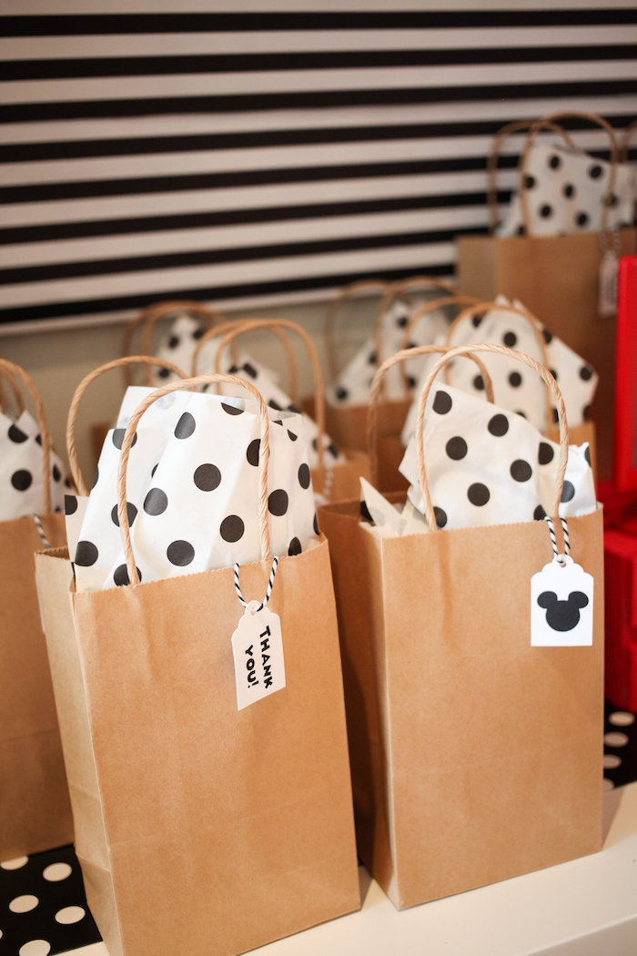 Mickey Mouse favor bags from a Classic Mickey Mouse Birthday Party on Kara's Party Ideas | KarasPartyIdeas.com (32)