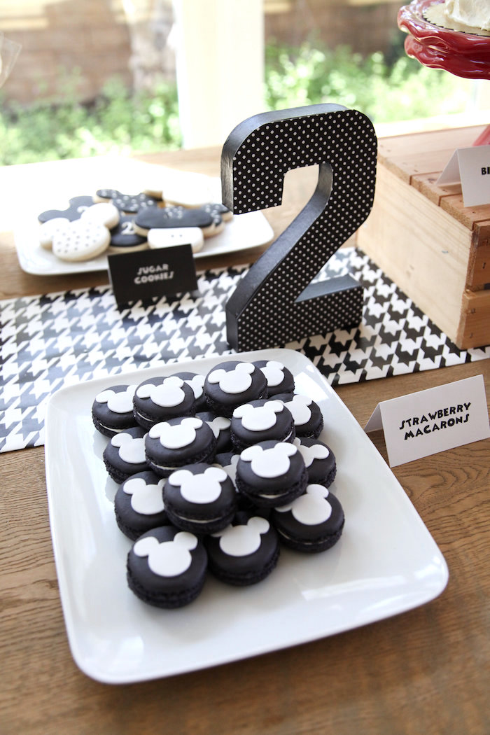 Monochromatic Mickey Mouse Oreos from a Classic Mickey Mouse Birthday Party on Kara's Party Ideas | KarasPartyIdeas.com (29)