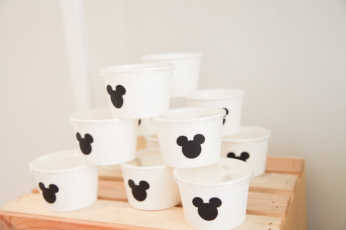 Mickey Mouse ice cream cups from a Classic Mickey Mouse Birthday Party on Kara's Party Ideas | KarasPartyIdeas.com (26)