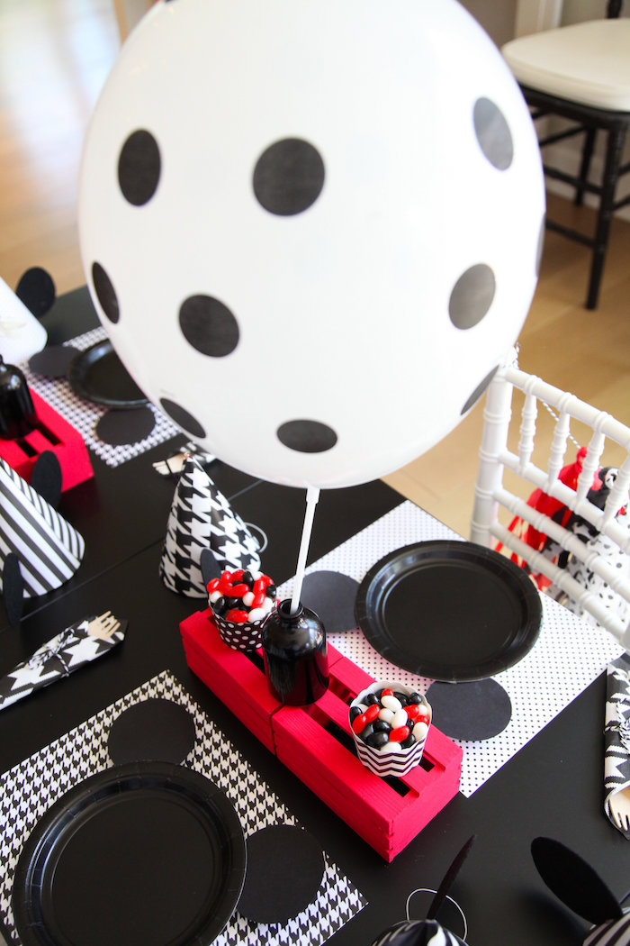 Mickey Mouse place settings from a Classic Mickey Mouse Birthday Party on Kara's Party Ideas | KarasPartyIdeas.com (22)