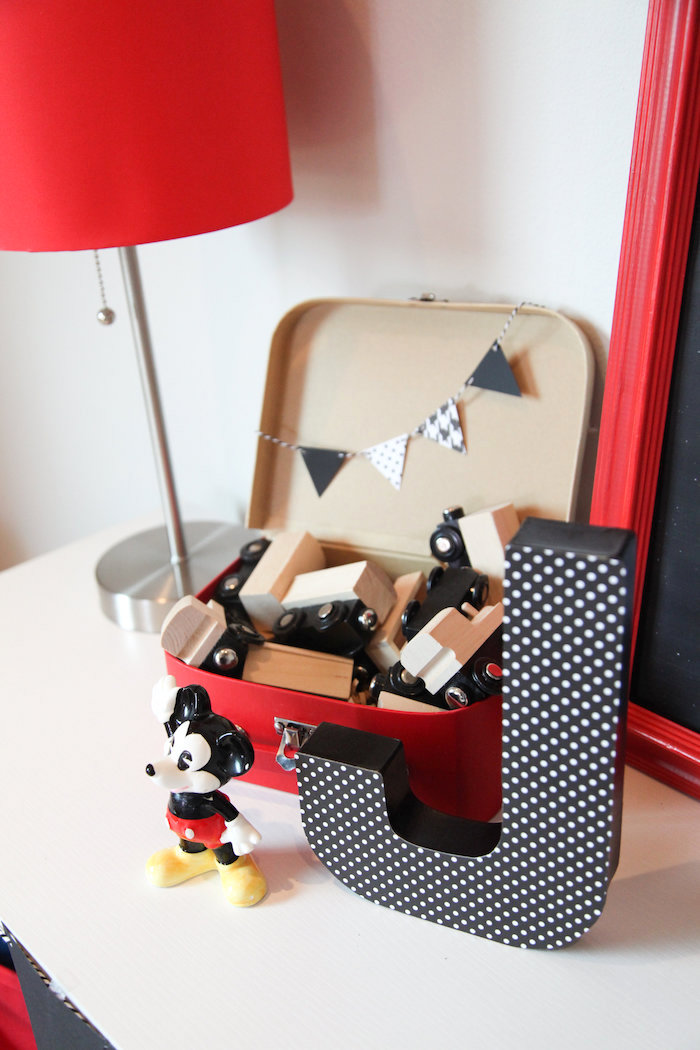 Train blocks from a Classic Mickey Mouse Birthday Party on Kara's Party Ideas | KarasPartyIdeas.com (11)