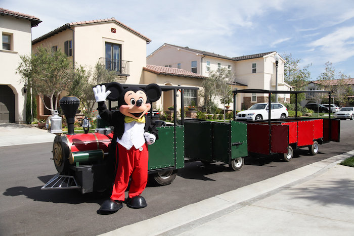 Train from a Classic Mickey Mouse Birthday Party on Kara's Party Ideas | KarasPartyIdeas.com (8)