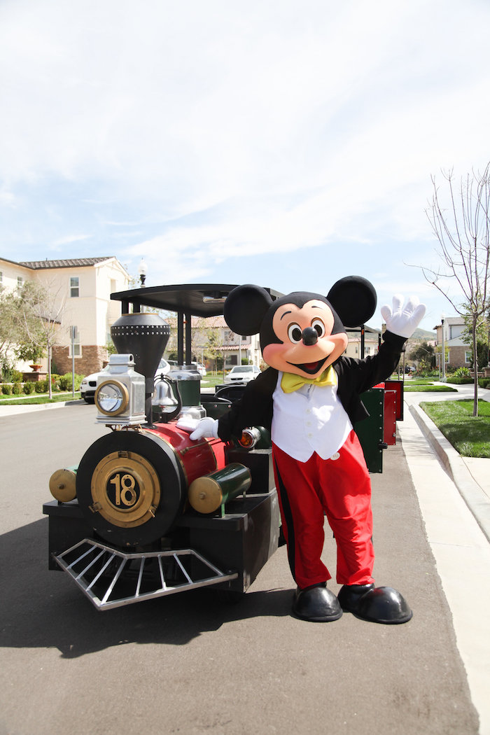 Train from a Classic Mickey Mouse Birthday Party on Kara's Party Ideas | KarasPartyIdeas.com (7)