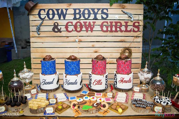 Cowboys & Cowgirls Joint Birthday Party on Kara's Party Ideas | KarasPartyIdeas.com (29)