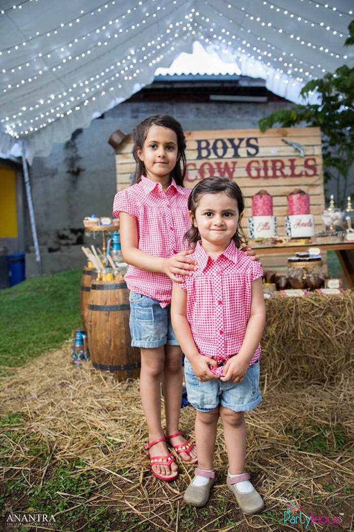 Birthday Cowgirls from a Cowboys & Cowgirls Joint Birthday Party on Kara's Party Ideas | KarasPartyIdeas.com (16)