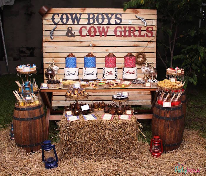 Cowboys & Cowgirls Joint Birthday Party on Kara's Party Ideas | KarasPartyIdeas.com (9)