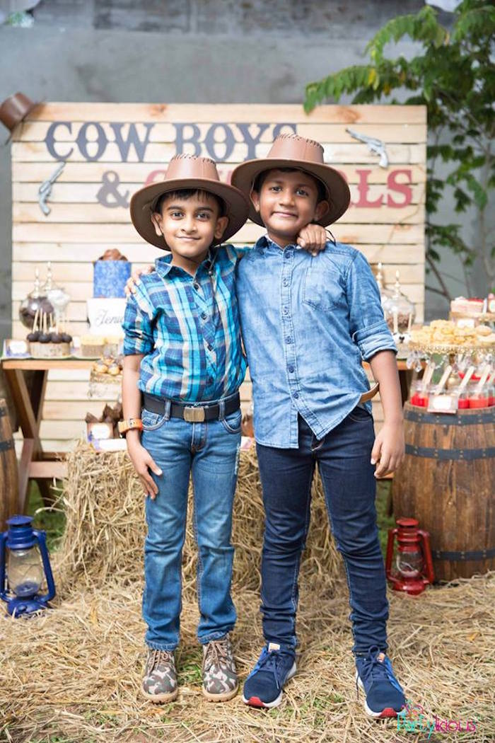Birthday Cowboys from a Cowboys & Cowgirls Joint Birthday Party on Kara's Party Ideas | KarasPartyIdeas.com (7)