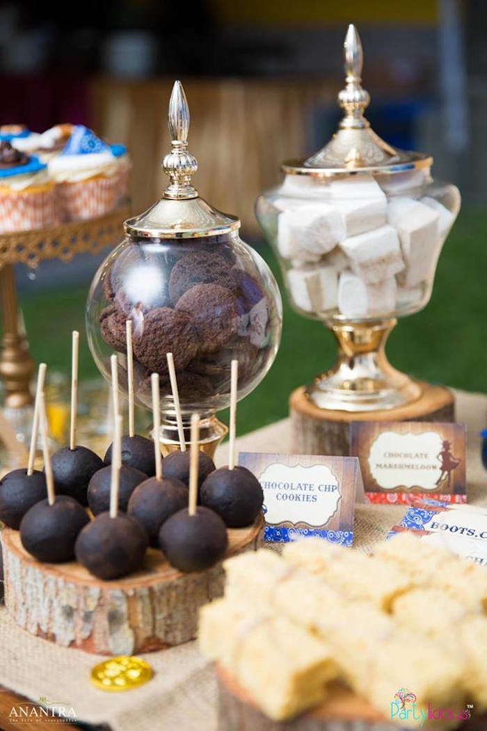 Dessert table sweets + detail from a Cowboys & Cowgirls Joint Birthday Party on Kara's Party Ideas | KarasPartyIdeas.com (41)