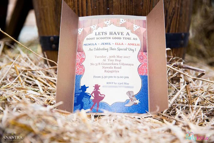 Western Party Invitation from a Cowboys & Cowgirls Joint Birthday Party on Kara's Party Ideas | KarasPartyIdeas.com (36)