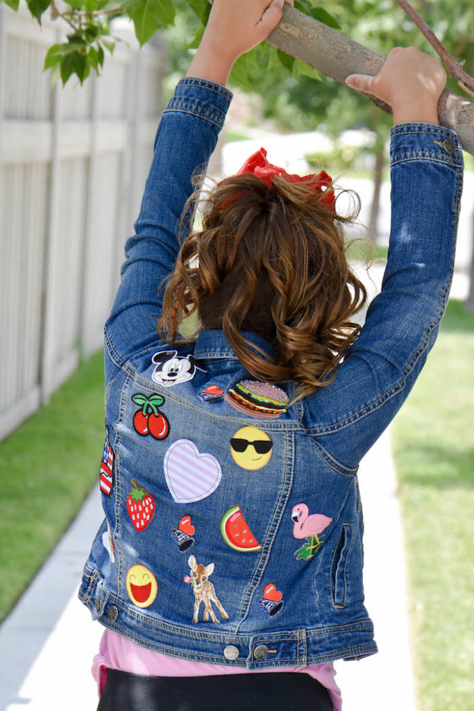 DIY Embellished Patches Jean Jacket for Back to School