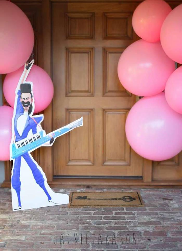 Balloon entrance from a Despicable Me 3 Luau Party on Kara's Party Ideas   KarasPartyIdeas.com (17)