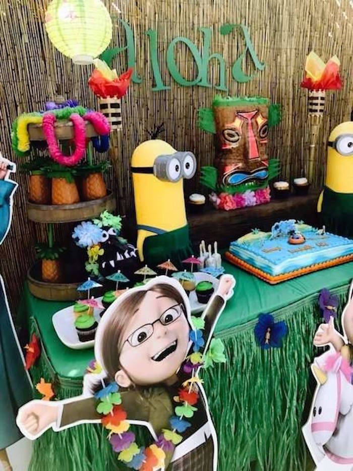 Despicable Me 3 Luau Party on Kara's Party Ideas | KarasPartyIdeas.com (15)