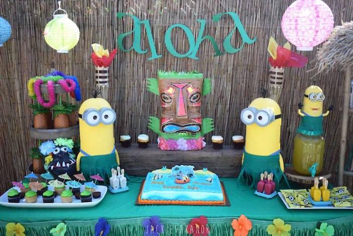 Despicable Me 3 Luau Party on Kara's Party Ideas   KarasPartyIdeas.com (7)