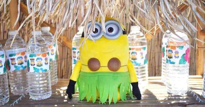 Despicable Me 3 Luau Party on Kara's Party Ideas | KarasPartyIdeas.com (1)