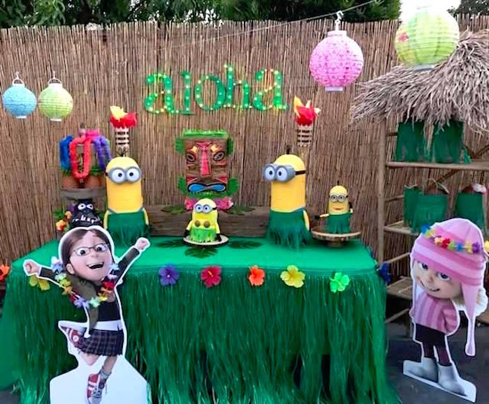 Despicable Me 3 Luau Party on Kara's Party Ideas | KarasPartyIdeas.com (25)