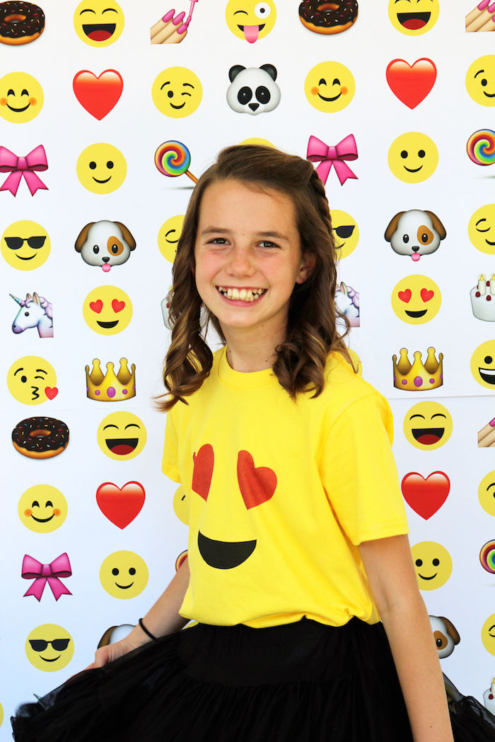 Emoji t-shirt from an Emoji Birthday Party on Kara's Party Ideas | KarasPartyIdeas.com (34)