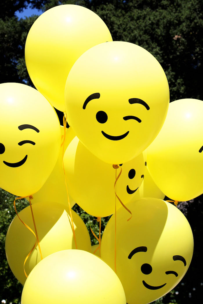 Emoji balloons from an Emoji Birthday Party on Kara's Party Ideas | KarasPartyIdeas.com (32)