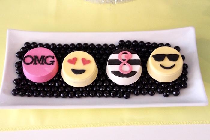 Emoji Oreos from an Emoji Birthday Party on Kara's Party Ideas | KarasPartyIdeas.com (9)