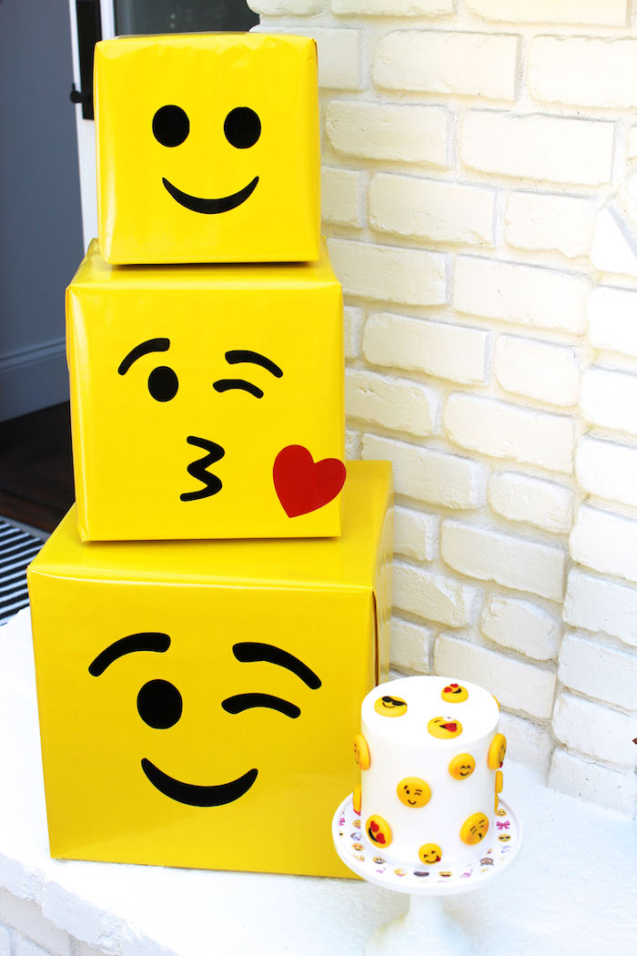 Emoji boxes from an Emoji Birthday Party on Kara's Party Ideas | KarasPartyIdeas.com (29)