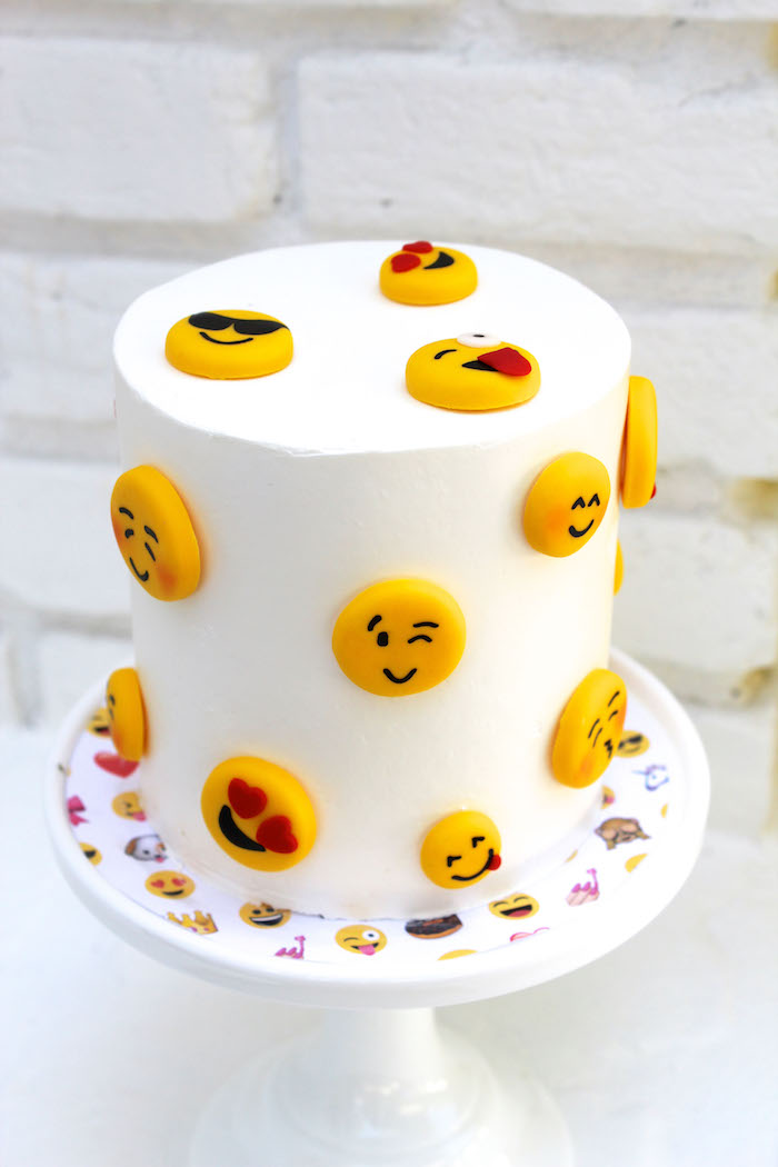 Emoji cake from an Emoji Birthday Party on Kara's Party Ideas | KarasPartyIdeas.com (28)