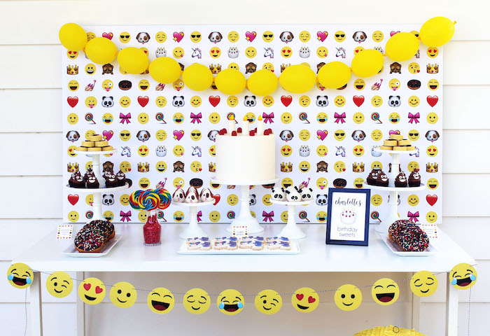 Stellar Emoji Birthday Party