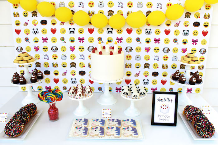 Emoji sweet table from an Emoji Birthday Party on Kara's Party Ideas | KarasPartyIdeas.com (19)