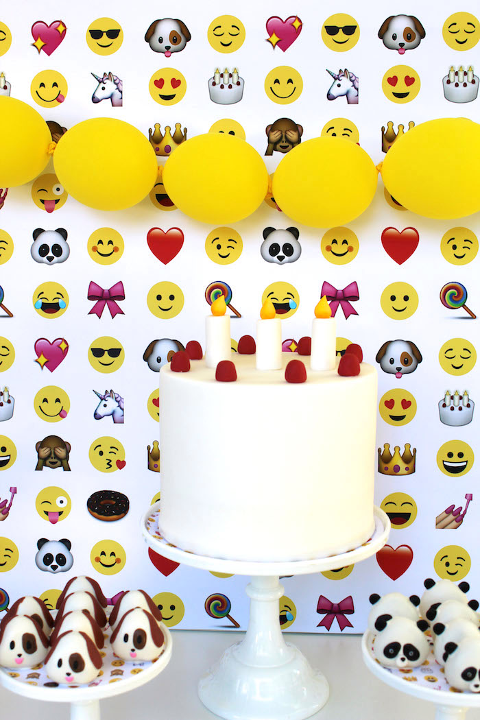 Emoji Birthday Cake from an Emoji Birthday Party on Kara's Party Ideas | KarasPartyIdeas.com (15)