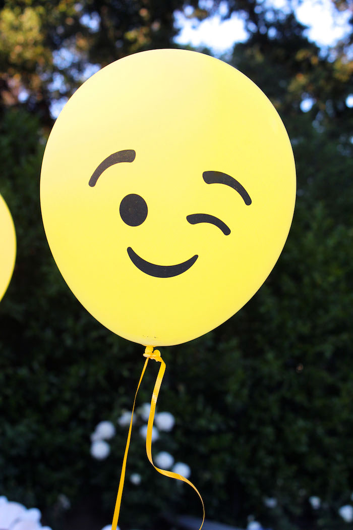 Emoji balloon from an Emoji Birthday Party on Kara's Party Ideas | KarasPartyIdeas.com (12)