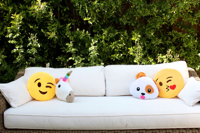 Emoji lounge from an Emoji Birthday Party on Kara's Party Ideas | KarasPartyIdeas.com (11)