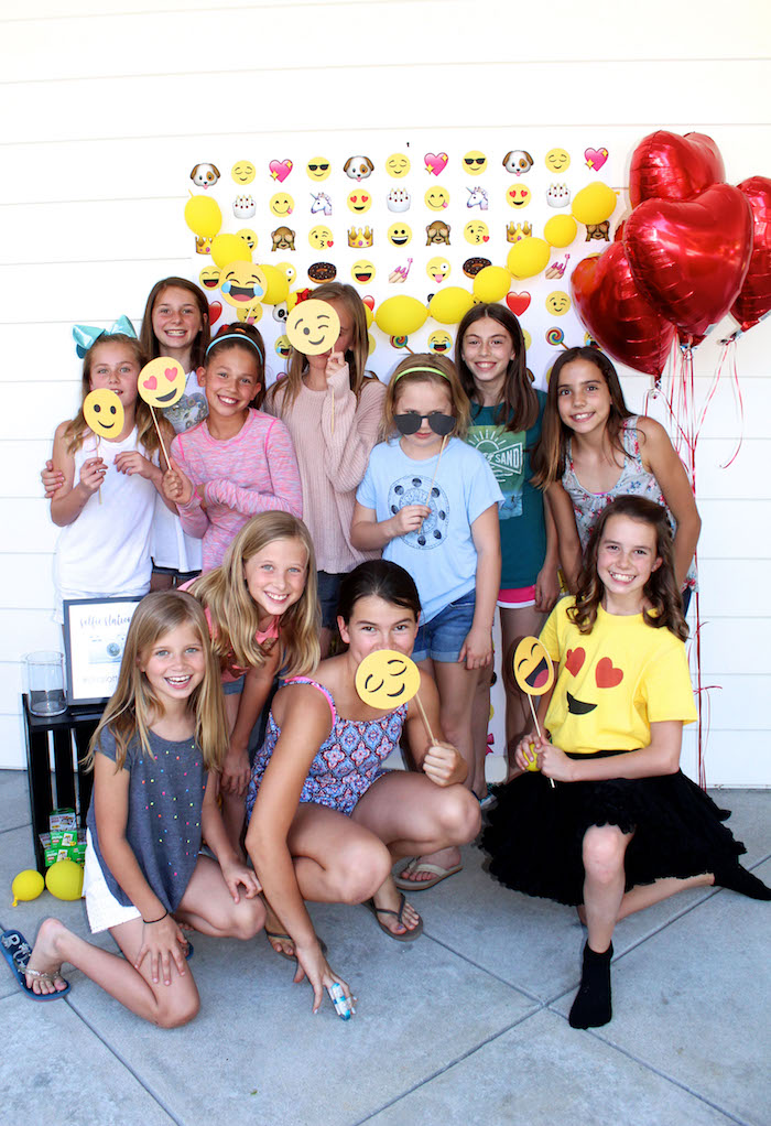 Emoji photo booth from an Emoji Birthday Party on Kara's Party Ideas | KarasPartyIdeas.com (10)