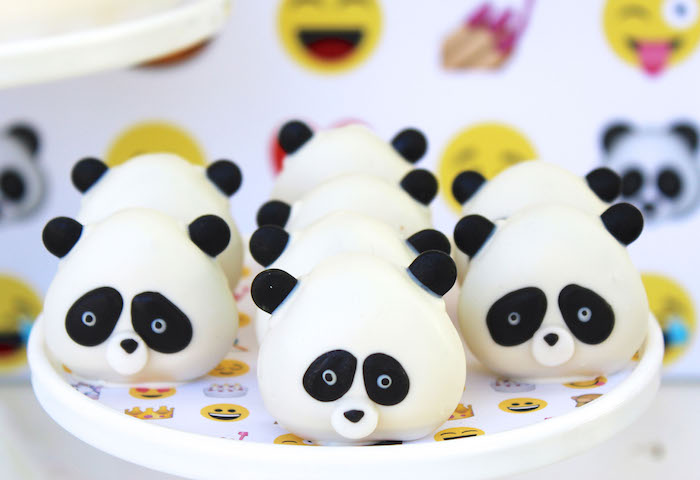 Panda emoji sweets from an Emoji Birthday Party on Kara's Party Ideas | KarasPartyIdeas.com (7)